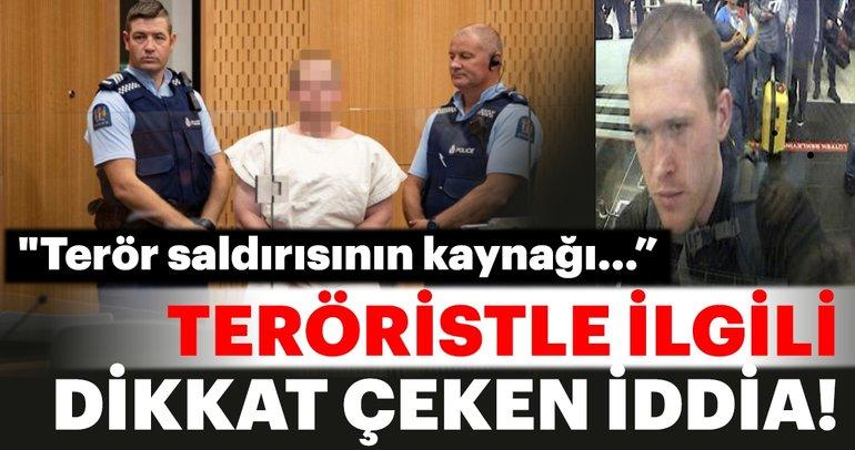 Yeni Zelanda'daki terörist ile ilgili dikkat çeken iddia!