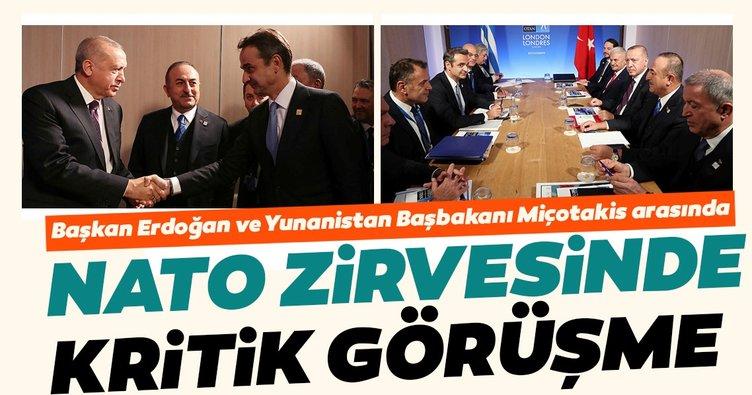 Başkan Erdoğan ve Yunanistan Başbakanı Miçotakis ile bir araya geldi