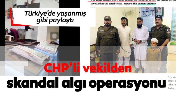 CHP'li vekil Hüsnü Bozkurt'tan algı operasyonu