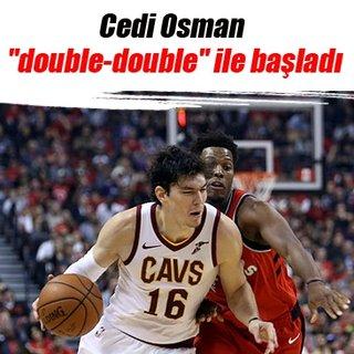 Cedi Osman double-double ile başladı