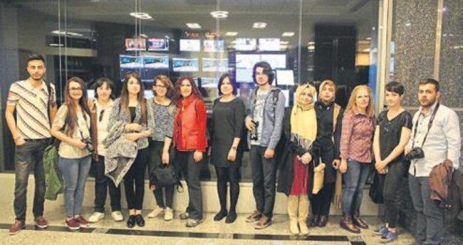 Üniversite öğrencileri medya kuruluşlarını gezdi