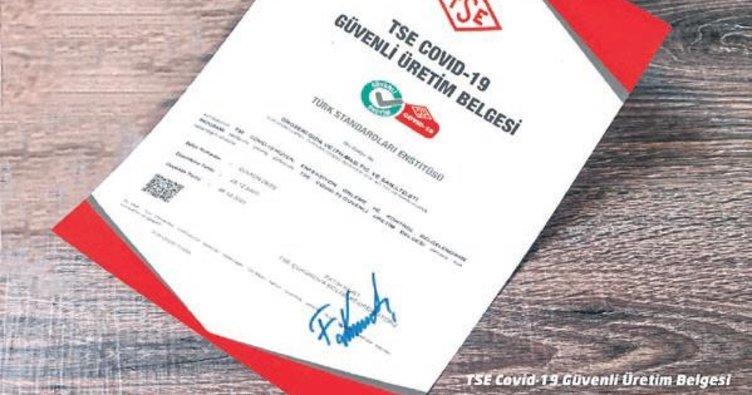 Groseri, TSE onaylı Kovid-19 güvenli üretim belgesini aldı