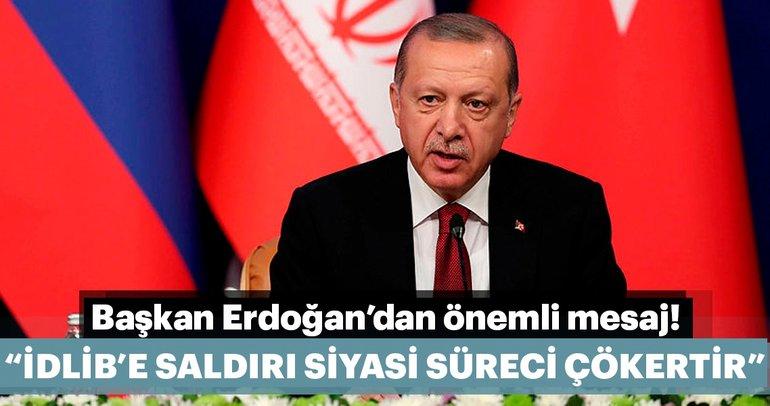 Son dakika: Başkan Erdoğandan tarihi zirvede İdlib mesajı