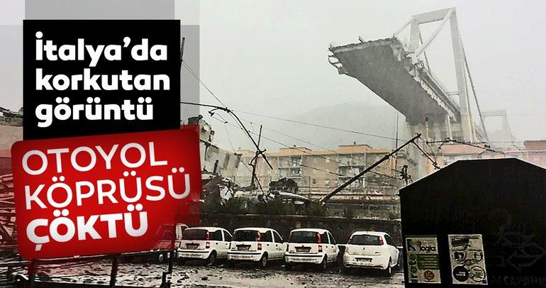 İtalya'da otoyol köprüsü çöktü! Çok sayıda ölü var...