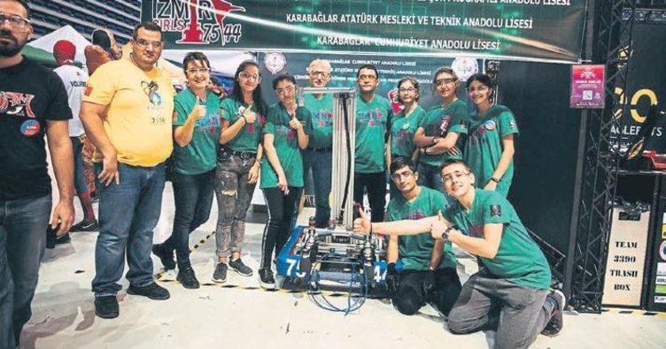 Kız robot takımı ABD'de yarışacak