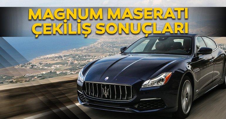 Magnum çekiliş sonuçları açıklandı! Magnum Maserati çekilişini kim kazandı? Sonuç sorgulama