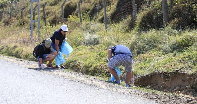 Dünya Temizlik Günü'nde Şile Belediyesi çevre gönüllüleriyle bir arada