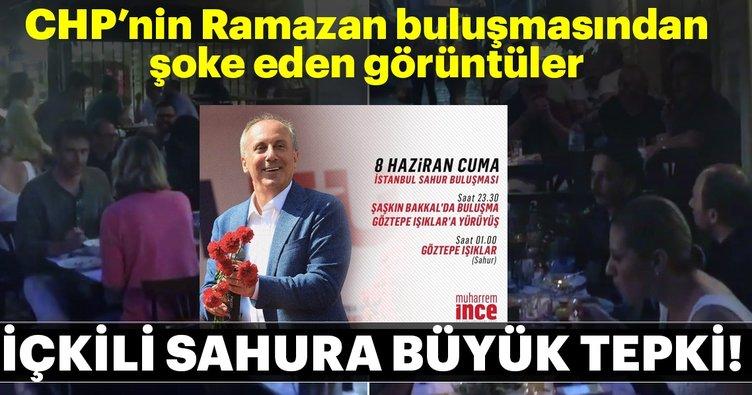 CHP'nin İstanbul Sahur Buluşması'nda partililerin içki içmesine büyük tepki