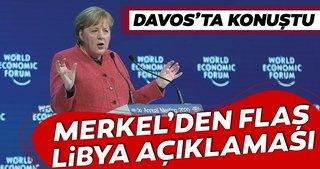 Almanya Başbakanı Angela Merkel'den flaş Libya açıklaması