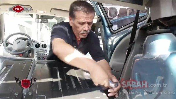 Aracının son haline inanamadı!