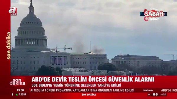 Son dakika: ABD'de hareketli saatler! Kongre binası kapatıldı, dumanlar yükseliyor... | Video