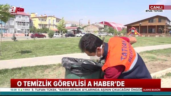 Çöp arabasını özenle temizleyen o temizlik görevlisi A Haber'de! | Video