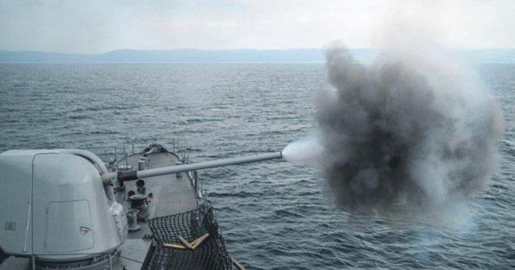 Denizkurdu-2019'da milli silahlarla hedeflere tam isabet