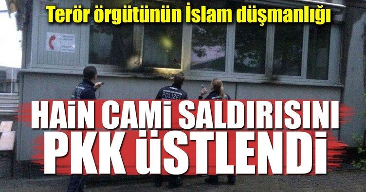 Almanya'daki cami saldırısını terör örgütü PKK üstlendi