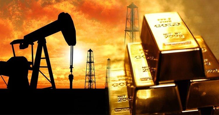 Altın fiyatları yükseldi, petrol düştü