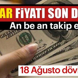 Son dakika dolar euro haberi: 18 Ağustos Cumartesi döviz kuru.. Dolar ve Euro kaç TL? Dolar bugün ne kadar oldu?