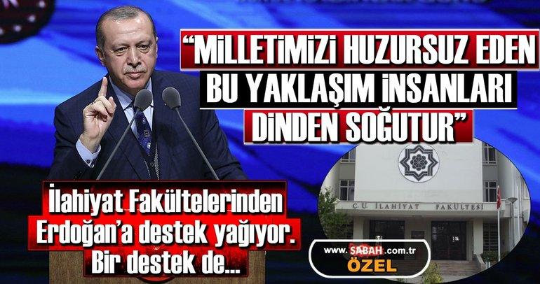 Erdoğan'a bir destek te Çukurova İlahiyat Fakültesi'nden