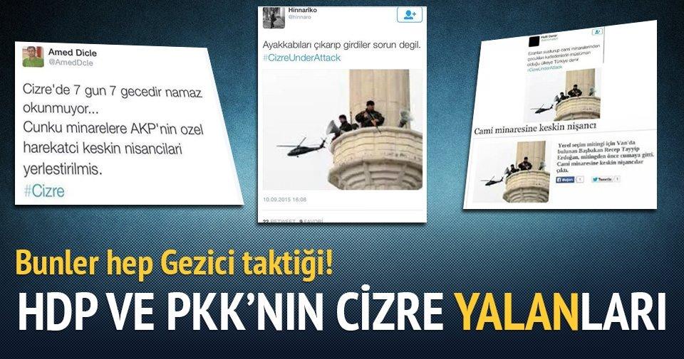 PKK'lıların 'keskin nişancı' yalanı