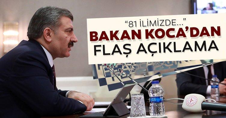 Bakan Fahrettin Koca'dan son dakika açıklaması: 81 ilde coronavirüs toplantısı yaptık