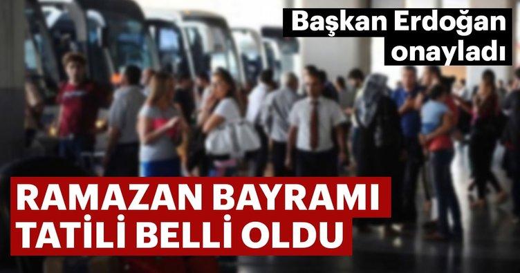 Ramazan Bayramı tatili kaç gün oldu?  Başkan Erdoğan onayladı...