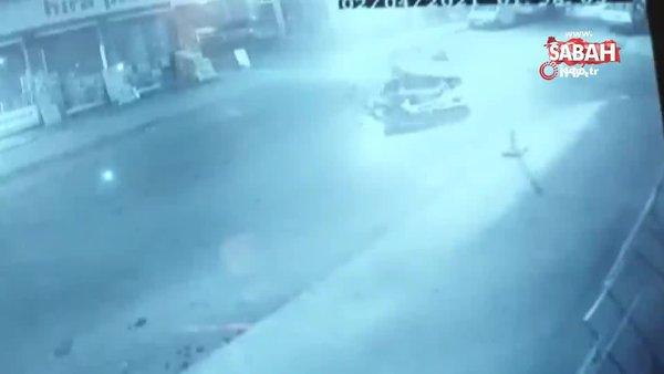 Ümraniye'de hafif ticari araç ile ticari taksi çarpıştığı kaza kamerada | Video