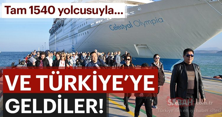Tam 1540 yolcusuyla... Ve Türkiye'ye geldiler