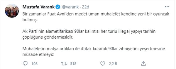 Sanayi ve Teknoloji Bakanı Mustafa Varank: Muhalefetin 90'lar zihniyetini yeşertmesine müsaade etmeyiz 14