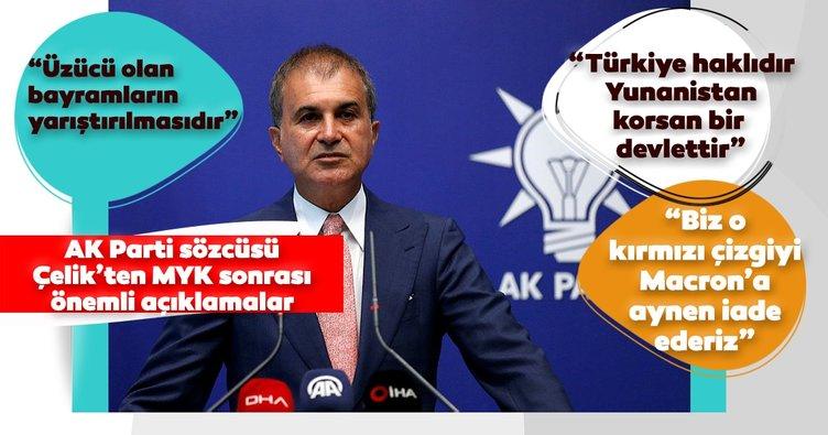AK Parti Sözcüsü Ömer Çelik MYK toplantısının ardından açıklamalarda bulunuyor