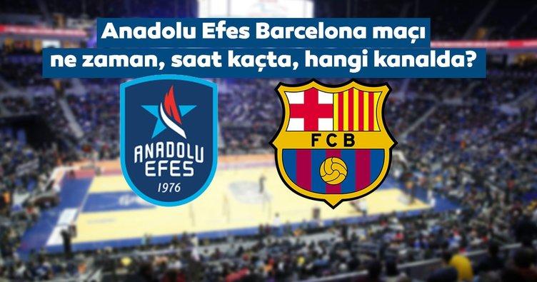 Anadolu Efes Barcelona maçı ne zaman, saat kaçta, hangi kanalda? İşte Anadolu Efes basketbol maçı canlı yayın kanalı