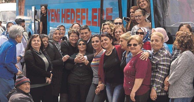 Kepez'de teşekkür turu