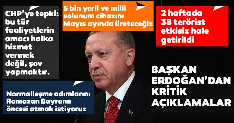 Son dakika: Başkan Erdoğan: Ramazan Bayramına kadar normalleşme sürecine girmek istiyoruz