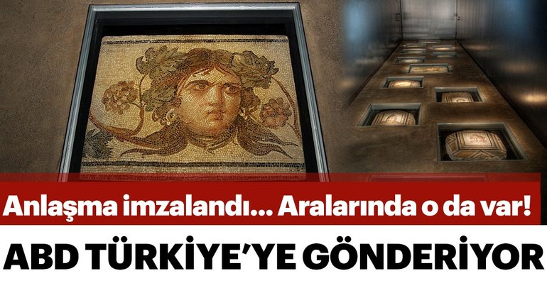 ABD'deki Zeugma parçaları Türkiye'ye getiriliyor
