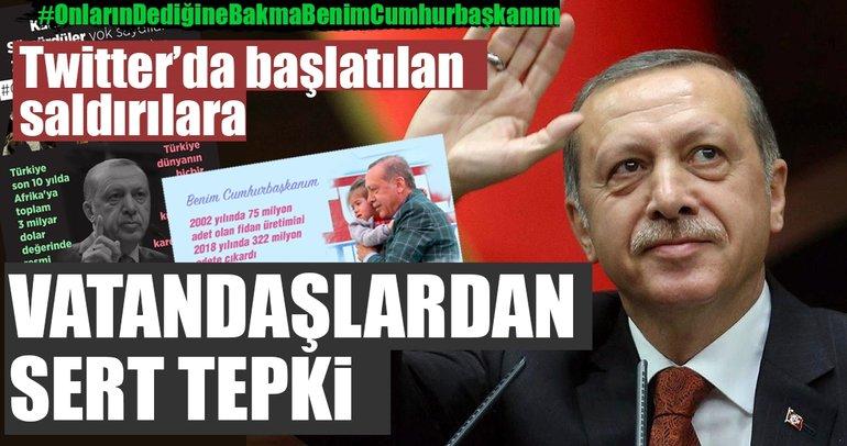 Twitter'da Cumhurbaşkanı Erdoğan'a yapılan saldırılara vatandaşlardan sert yanıt