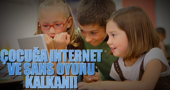 Çocuğa internet ve şans oyunu kalkanı