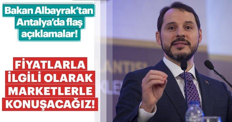 Bakan Albayrak'tan Antalya'da flaş açıklamalar! Fiyatlarla ilgili olarak marketlerle konuşacağız