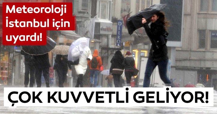 Meteoroloji'den son dakika hava durumu ve yağış uyarısı! İstanbullular dikkat