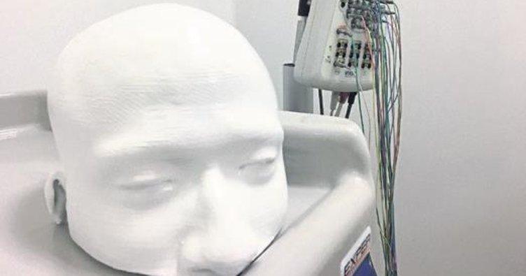 Üç boyutlu yazıcı ile insan kafatası modeli