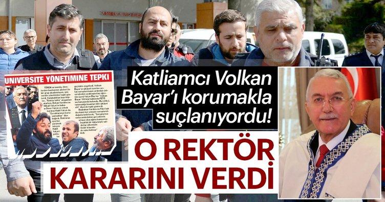 Son Dakika: Rektör Hasan Gönen istifa etti
