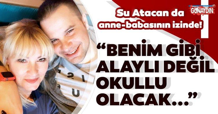 Pınar Altuğ'ın kızı Su anne-babasının izinde! Pınar Altuğ: Kızım alaylı değil okullu olacak...