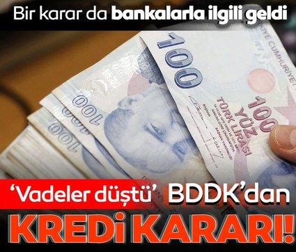 BDDK'dan yeni kredi kararı! Tüketici kredisi için vadeler düştü