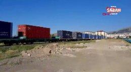 Çin'den yola çıkan bin 56 metrelik yük treni Kocaeli'ne ulaştı | Video