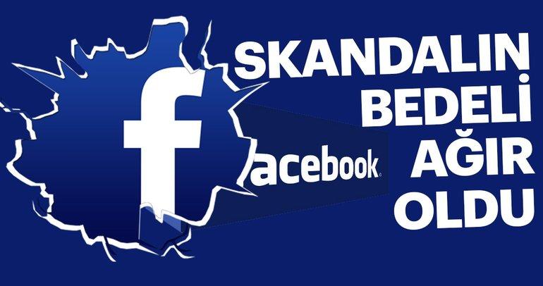 Skandal sonrası Facebook hisselerinde sert düşüş