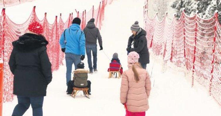 Kayak merkezinde şoke eden görüntü