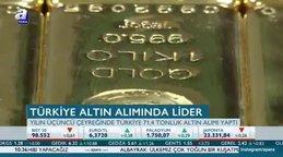 Türkiye altın alımında lider