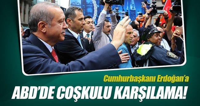 ABD'de Cumhurbaşkanı Erdoğan'a coşkulu karşılama!