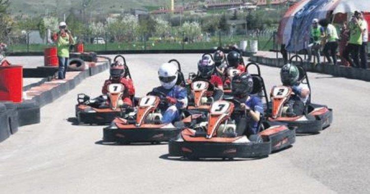 Kahramankazan'da karting turnuvası