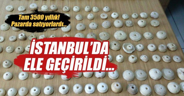 İstanbul'da 3500 yıllık eserler ele geçirildi