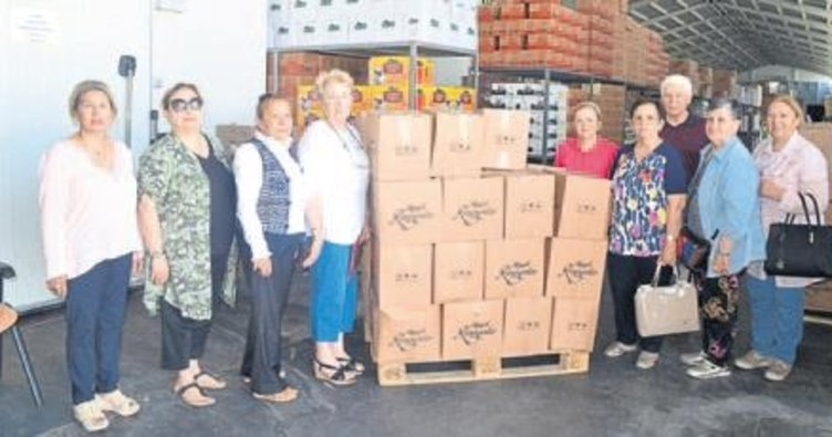 160 kişiye gıda yardımı yaptılar