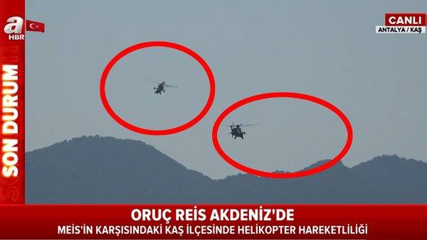 Son dakika | Yunan hücumbotu iddiası ardından flaş gelişme! Türk taarruz helikopterleri Yunan adasının karşısında... | Video