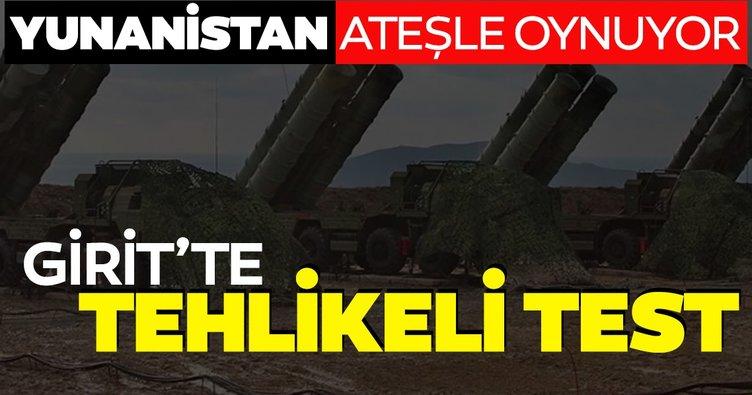 Son dakika: Yunanistan ateşle oynuyor: Girit'te S-300 test edildi